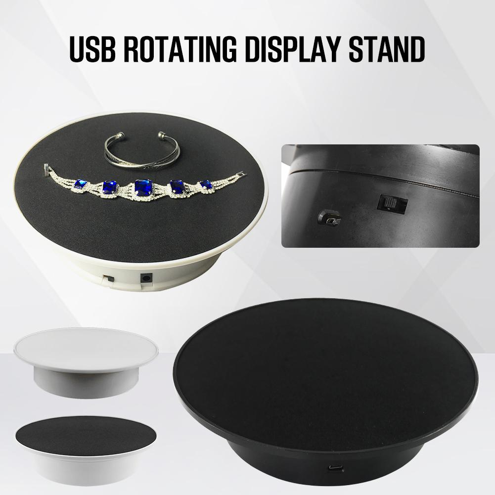 20cm USB Electric Turntable 360 Degree Rotary Display Frame Photography Maximum Load 2kg Video Shooting Projects Turntable