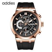 Hommes montres à Quartz chronographe étanche 5ATM affaires décontracté classique confortable Sport Design Silicone militaire montre bracelet
