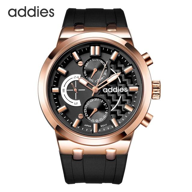 Mannen Quartz Horloges Chronograaf Waterdicht 5ATM Business Casual Klassieke Comfortabele Sport Ontwerp Siliconen Militaire Polshorloge