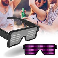 LED Party Glasses Futuristic Eyes Shield USB Luminous Flashing Glasses 5 Colors Christmas Birthday Easter Decoration Favor Gifts