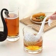 1 pcs Tea Strainer Little Swan Shape Food Grade PP Tea Infus