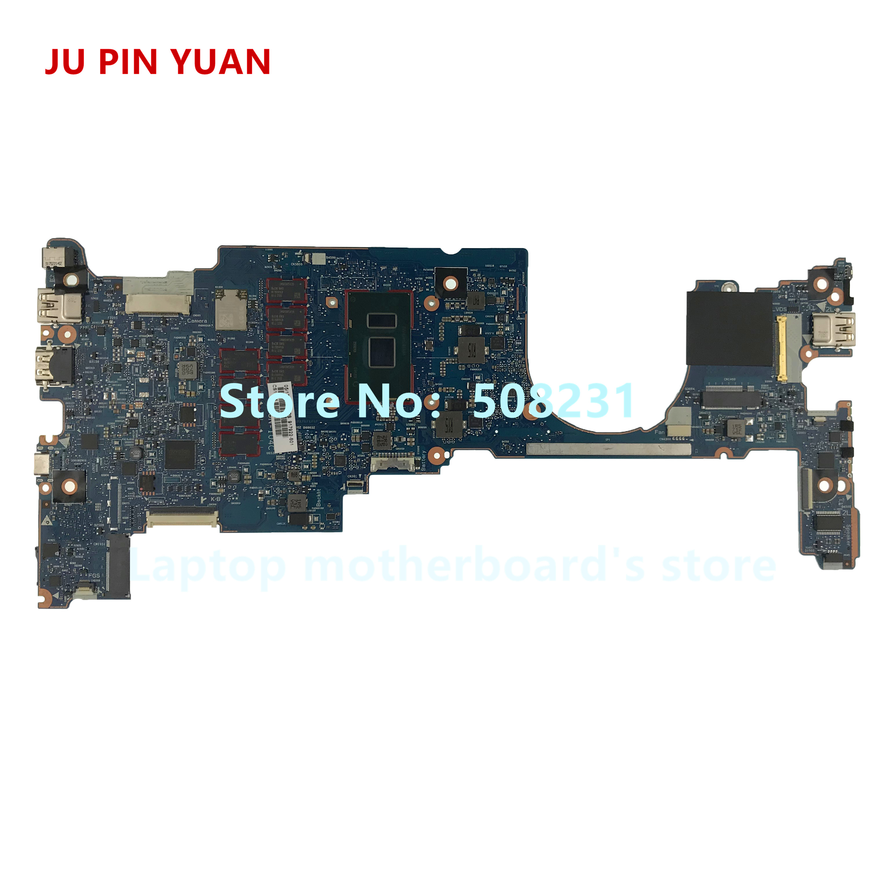 JU PIN YUAN 917922-601 OLDMAN-6050A2848001-MB-A01 Laptop motherboard For HP EliteBook x360 1030 G2 PC i5-7200U 8GB fully TestedJU PIN YUAN 917922-601 OLDMAN-6050A2848001-MB-A01 Laptop motherboard For HP EliteBook x360 1030 G2 PC i5-7200U 8GB fully Tested