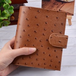 100% Genuine Leather Planner A7 Size Loose Leaf Rings Notebook Mini Agenda Organizer Cowhide Diary Journal Sketchbook Big Pocket