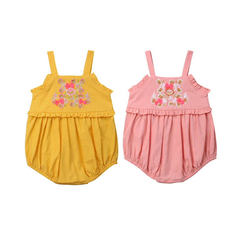 Baby Clothing Newborn Baby Girls Embroidery Bodysuit Outfits Costume Romper Jumpsuit Clothes Outfits, Sets