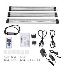 3pcs / set SMD3528 LED under cabinet light with remote control rigid bar hard DC12V Led output tube kit
