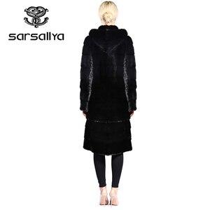 Image 5 - SARSALLYA Real Fur Style Fashion Fur Coat Genuine Leather Mandarin Collar Good Quality Mink Fur Coat Women Natural Black Coats