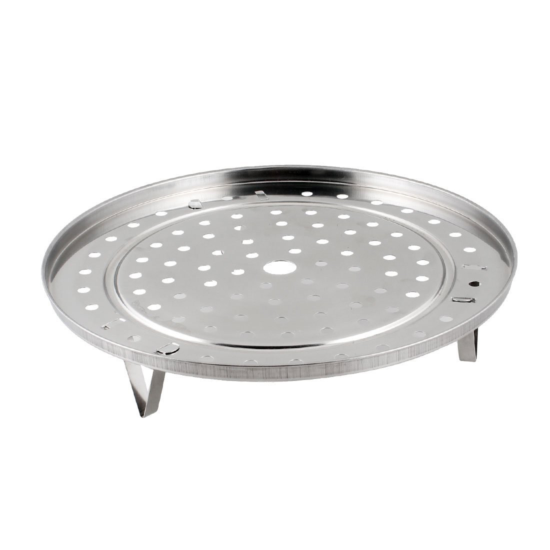 Round Stainless Steel Steaming Rack W Stand 25.5cm Diameter