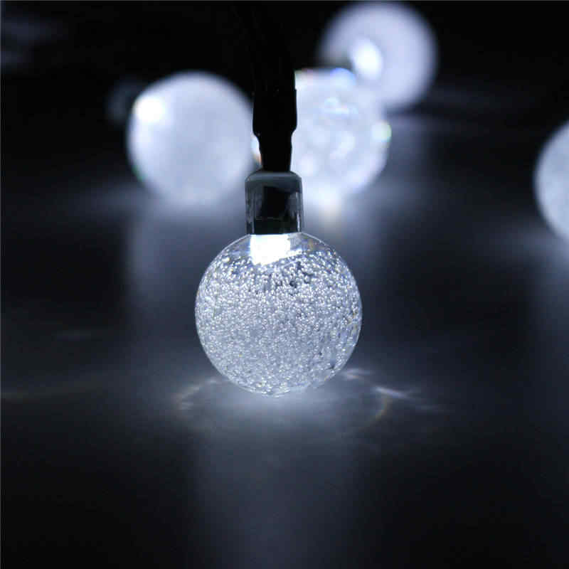 CLAITE 6 м 30 светодиодный солнечный пузырьковый шар струнный свет водонепроницаемый открытый декоративный светильник для вечеринок для рождества светодиодный Сказочный свет