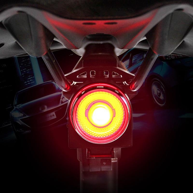 Start/Stop Brake Sensing IPx5 Waterproof LED Charging Cycling Taillight Long Time Lamp Bicycle Flashlight Bike Rear Light