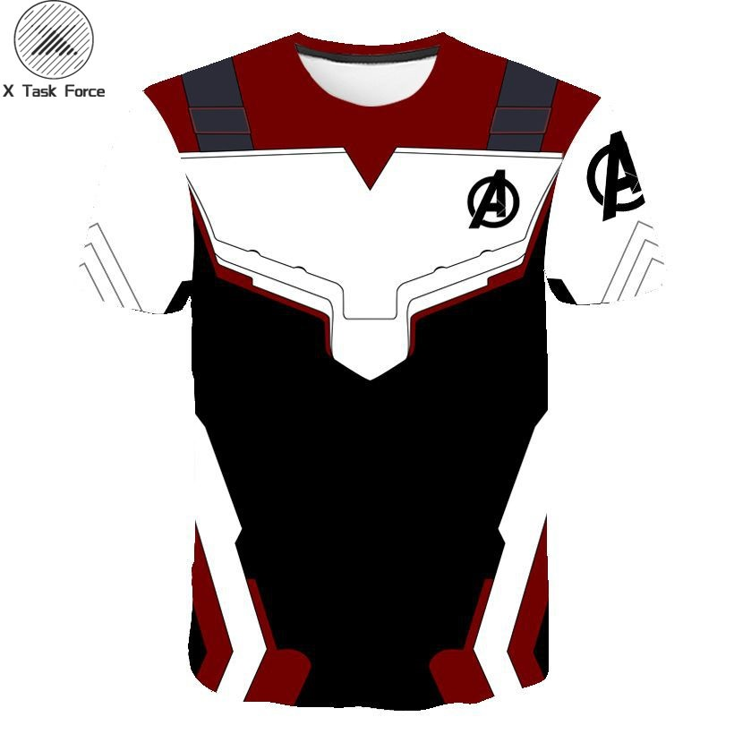 The Avengers 4 Endgame Quantum Realm Cosplay <font><b>Men</b></font> T-shirt Superhero Endgame Costume <font><b>Mesh</b></font> Cloth Sport Male <font><b>Tshirts</b></font> Tops Tee image