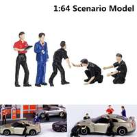 5 шт. 1: 64 Авто Ремонт людей Для мужчин модели сценариев техник группы медаль для гонок Набор для спичечный коробок для Siku Игрушечная модель