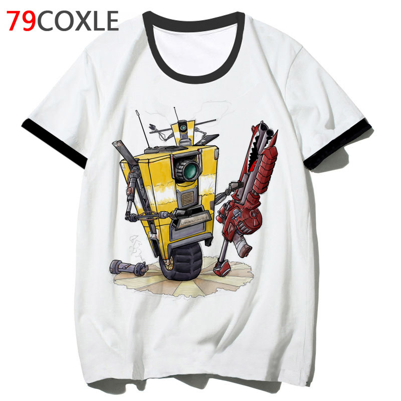 <font><b>Borderlands</b></font> claptrap t shirt male hip clothing hop harajuku tee tshirt streetwear funny top for men school 2019 t-shirt F2122 image
