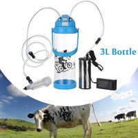 Ферма 3L Электрический доильный аппарат корова; Коза; овца доялка один вакуумный насос ведро еда Детская безопасность уровень пластик доя