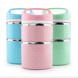 Creative Kids Portable Stainless Steel Fully Sealed Lunch Box Student Thermal Insulated Food Container School Picnic Lunchbox