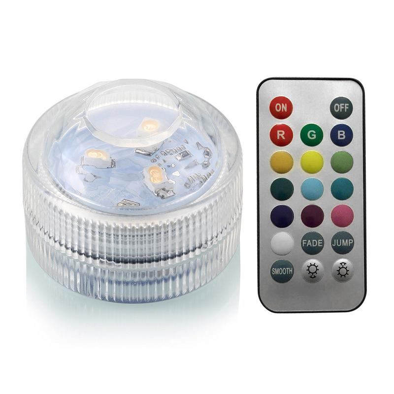 IP68 Waterproof Remote Control Diving Decoration Lamp 5050 SMD LED Multi Colored Light Bulb Submersible RGB LED Light Party Lamp