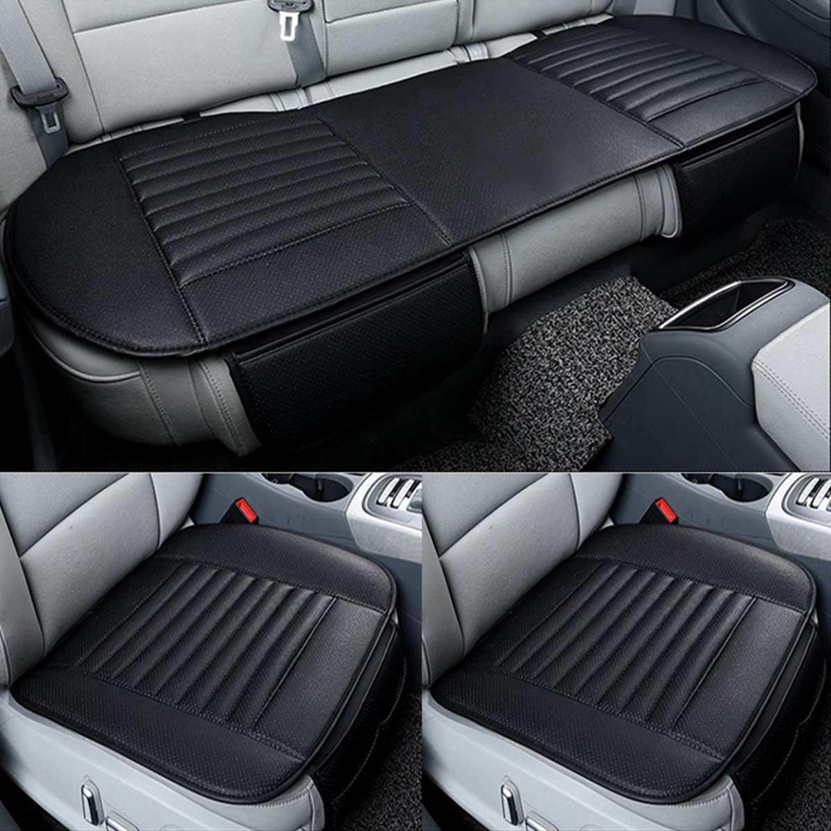 Tapis universel de protection de siège de voiture 1 Set pour housse de siège de voiture 5 places quatre saisons avant arrière coussin de siège arrière en cuir Pu respirant