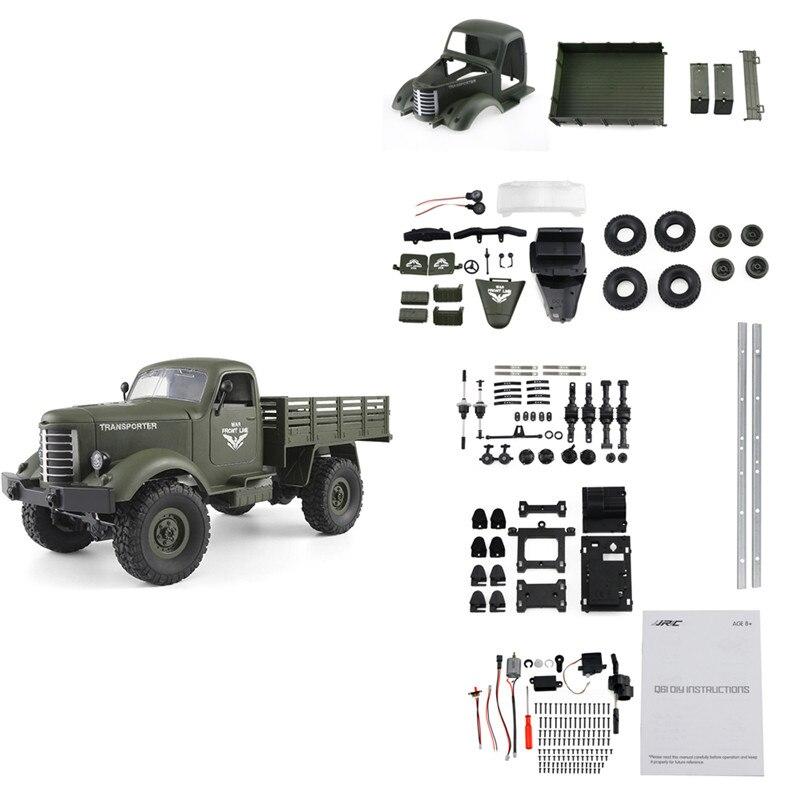 JJRC Q61 набор 1/16 2,4G 4WD внедорожник военный грузовик гусеничный RC автомобиль DIY RC автомобиль набор 2019 новое поступление подарок для детей игрушки