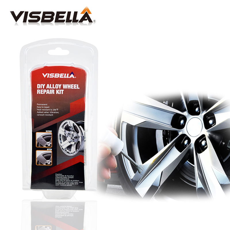 VISBELLA Alloy Wheel Repair Adhesive Kit 5 Minutes General Purpose Silver Paint Fix Tool for Car Rim Dent Scratch Care Accessory-in Rim Care from Automobiles & Motorcycles