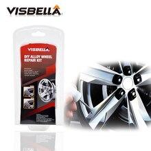 VISBELLA Legierung Rad Reparatur Adhesive Kit 5 Minuten Allgemeine Zweck Silber Farbe Fix Werkzeug für Auto Felge Dent Scratch Pflege zubehör