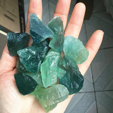 Natural fluorite rough green and blue can be used as a pendant DIY jewelry
