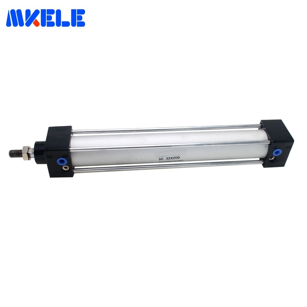 Makerele Mini Pneumatic Cylinder Double Acting Air Cylinder 32mm Bore 200mm Stroke Proof Pressure 1.35 MPa SC32-200 Hot SaleMakerele Mini Pneumatic Cylinder Double Acting Air Cylinder 32mm Bore 200mm Stroke Proof Pressure 1.35 MPa SC32-200 Hot Sale