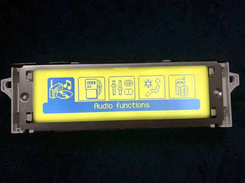 New Style Light Yellow Screen Support USB Bluetooth Display Rmonitor 12 Pin For Peugeot 307 407 408 Citroen C4 C5 (Some Model)