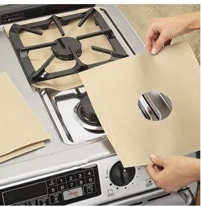 Image 3 - 2pcs/4pcs Reusable Non stick Foil Range Stovetop Burner Protector Liner Cover For Cleaning Kitchen Tools Protection