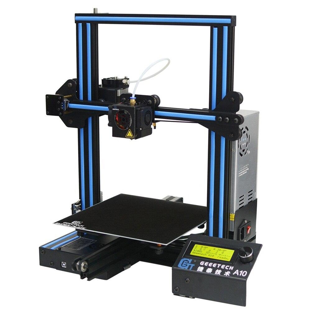 Geeetech A10 Alumínio I3 3D Printer 220*220*260 milímetros Tamanho de Impressão Suporte de Montagem Rápida de Controle Remoto LCD exibição 3D Prin