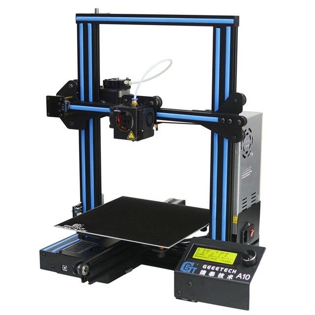 Geeetech A10 אלומיניום I3 3D מדפסת 220*220*260mm הדפסת גודל מהיר עצרת תמיכה שלט רחוק LCD תצוגת 3D Prin