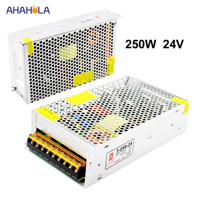 Switching Power Supply 24v 10a 250w AC 220v to 24v Source Power Supply 24 v Smps 24v Power Supply 10a 250w Fonte De Alimentacao