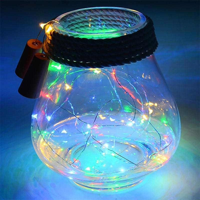 StarryNight 10 LED energía Solar botella de vino forma de corcho LED guirnalda de cobre adorno alambre cadena luces decoración de fiesta de navidad
