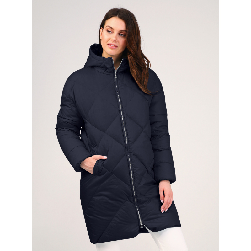 tom farr down jacket woman hooded 2018 winter female clothes coats T4F-W3713_67 striped zip up hooded quilted jacket