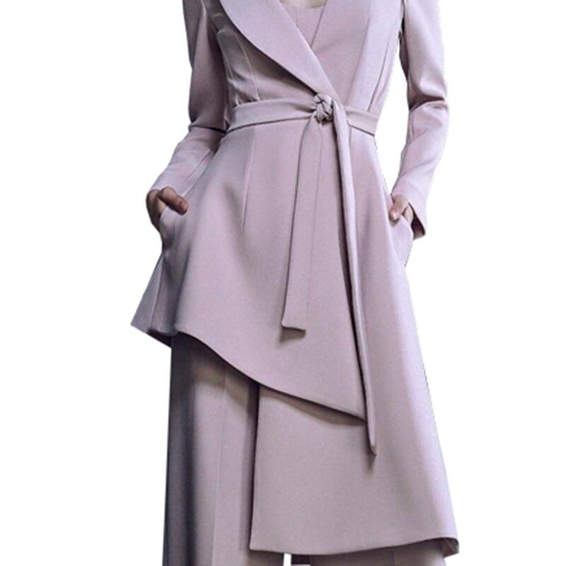 Jambe Col Ensemble Pour Mode Suit Large Femmes De Femelle Bandage Naked Pantalon Pièces Irrégulière Nouvelle V 2 Lanmrem Powder Blazer 2019 Printemps Yg62111 Lâche qvWSHwApf