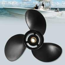 3BAB645180 9 1/4x9 Пропеллер из алюминиевого сплава для Tohatsu-Mercury подвесной 9,9-18HP 14 Spline Tooths черный 3 лезвия R вращение