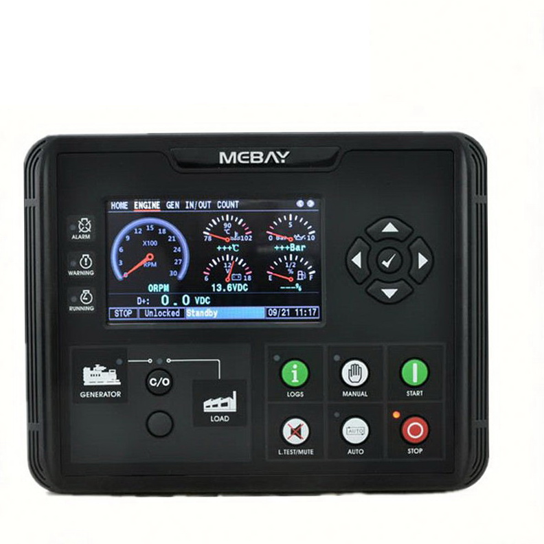 """2019 DC60D  DC62D Generator Set Controller for Diesel Gasoline Gas Genset Parameters Monitoring With 4.3"""" LCD Screen Display"""