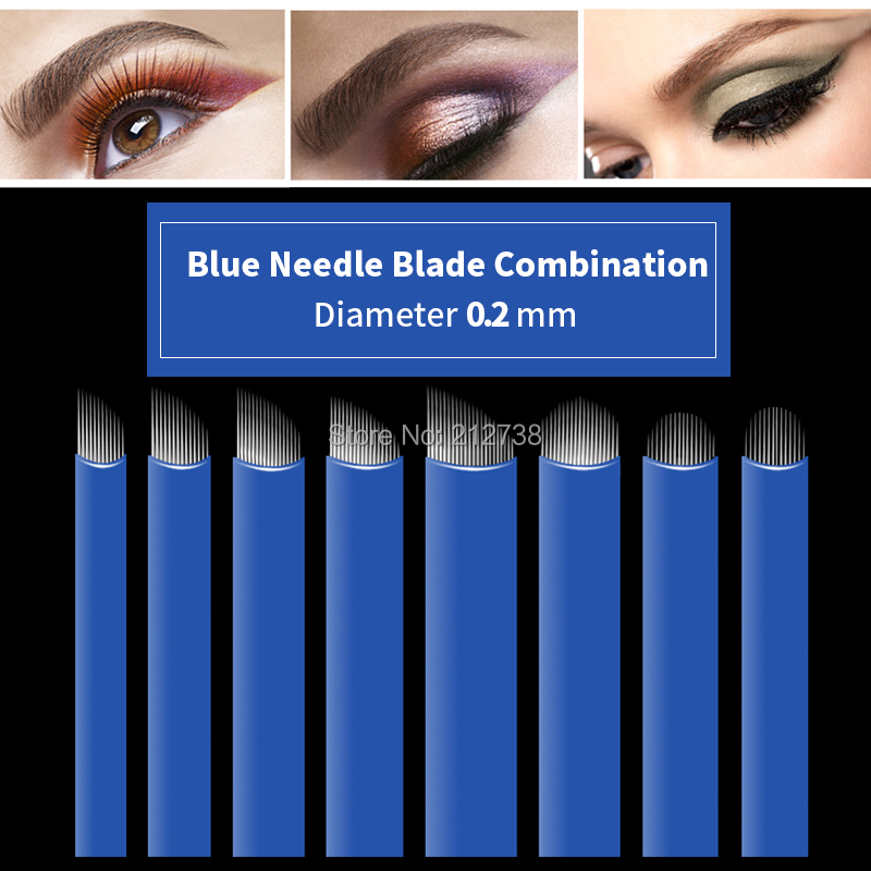 Purposeful 50pcs 12 14 16 18 21pin U Shape Permanent Makeup Eyebrow Tattoo Needle Blade For 3d Embroidery Microblading Tattoo Pen Accessory Beauty & Health