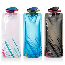 Reusable 700mL Sports Travel Portable Collapsible Folding Drink Water B