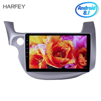 Harfey Double Din HD 1024*600 10.1 Android 8.1/7.1 GPS Car Radio Quad Core Stereo Wifi Multimedia Player For Honda Fit With DVR