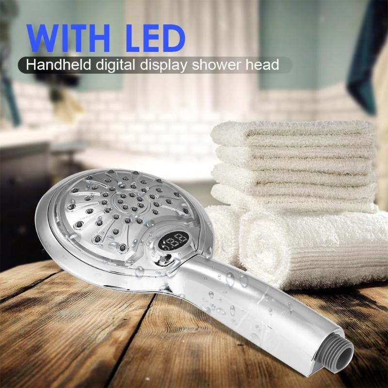 Image 4 - Digital LCD Display Temperature Control Shower Head 3 Colors LED Water Power Shower Head Powered Spray for Baby Pregnant Women-in Shower Heads from Home Improvement