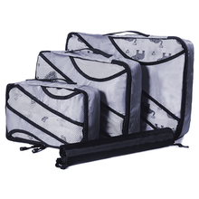 QIUYIN Clothing Sorting Organize Bag Nylon Packing Cube Travel System Durable 3 Pieces One Set Large Capacity Of Unisex