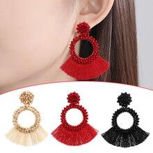 LNRRABC New Fashion Tassel Dangle Earrings For Women Wedding Party Gift Drop Jewelry Hot Bijoux Statement Earring Wholesale