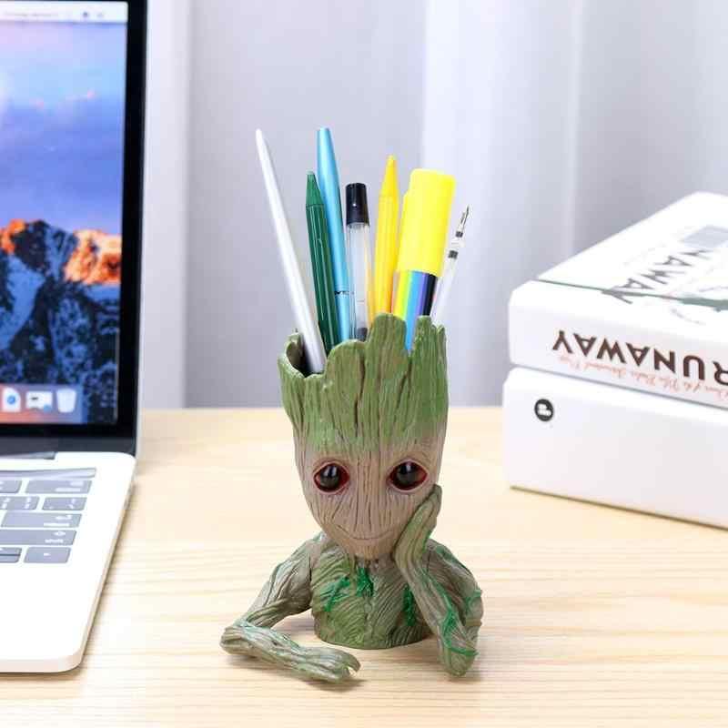 New Flower Pot Baby Groot Flowerpot Cute Toy Pen Pot Holder PVC Hero Model Baby Tree Man Garden Flower Plant Pot Dropshipping