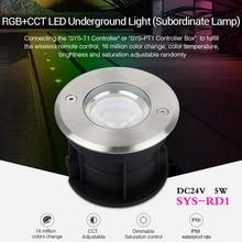 MiBOXER 5W RGB+CCT LED Garden Light Subordinate Lamp Smart Dimmable LED Landscape light DC24V can 2.4G remote/phone APP control