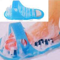 1 Pc Shower Feet Foot Cleaner Scrubber Washer Brush Massager Exfoliating Scrub Gift 280x130x110mm Bathroom Massage Slippers