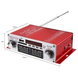 Image 3 - Mini amplificador Digital portátil Kentiger Hy 602, potencia de estéreo Hifi, con Control Fm, Ir, Fm, Mp3, Usb, reproducción con cuatro Dsp