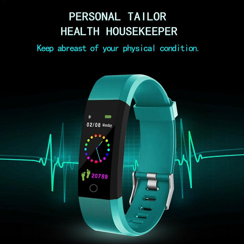 115Plus Sport SmartWatch 0 96 inch Color Screen Smart Bracelet Blood  Pressure Exercise Dynamic Heart Rate Monitoring Step Count