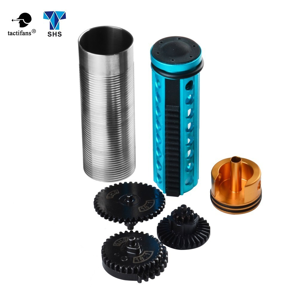 Paintball Hunting Accessories SHS Mushroom Mute Original Torque Gear Metal Piston Cylinder Head Set  Gearbox V.2/3 AEG Parts