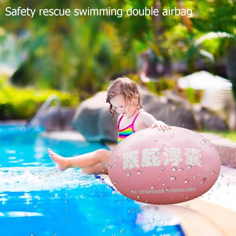 PVC Swimming Stooge Bags Dual Inflatable Airbags Swimming Airbag Rings PVC Inflatable Swimming Floating Ball Learning Circle