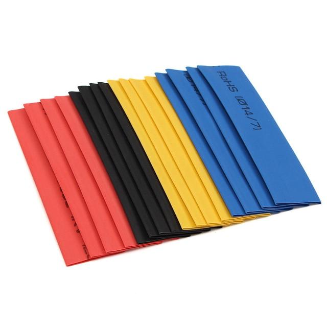 Set di tubi termorestringenti per guaina termorestringente assortiti in poliolefina multicolore/nera