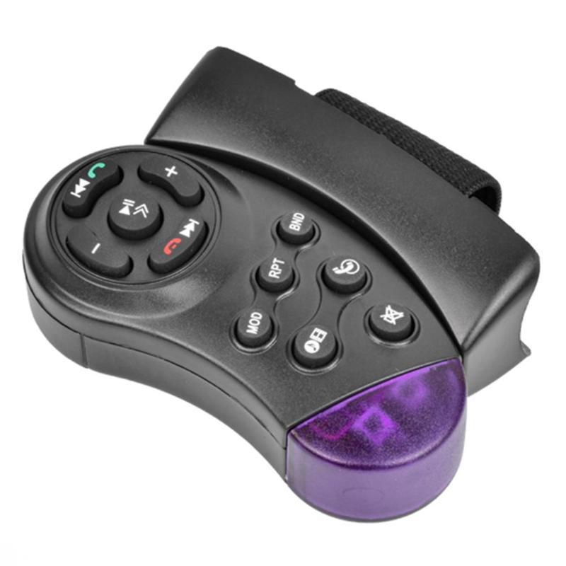 Portable Car Steering Wheel Wireless Controller MP5 Media Multimedia Player DVD Car Steering Wheel Multimedia Key